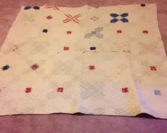 Handmade vintage quilt