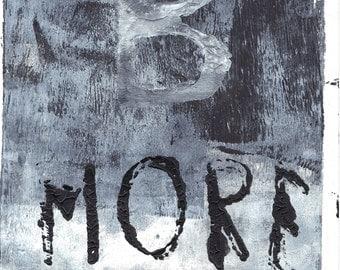"""Bmore monoprint Baltimore monoprint Baltimore print black white monoprint original print original art """"relief"""""""