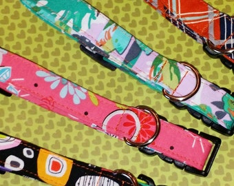 PET COLLARS : Custom Handmade Adjustable Breakaway Collar High Quality Cotton Fabric Pet Accessories Dogs Cats Pets Gifts Made in Oklahoma