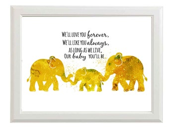 Nursery Wall Art Boys Nursery art Boys Nursery Prints Elephant Nursery Wall Art