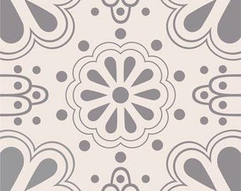Tile Sticker - Tiles for Kitchen/Bathroom Back splash - Floor decals - Mexican Domino Tile Sticker Pack in Grey
