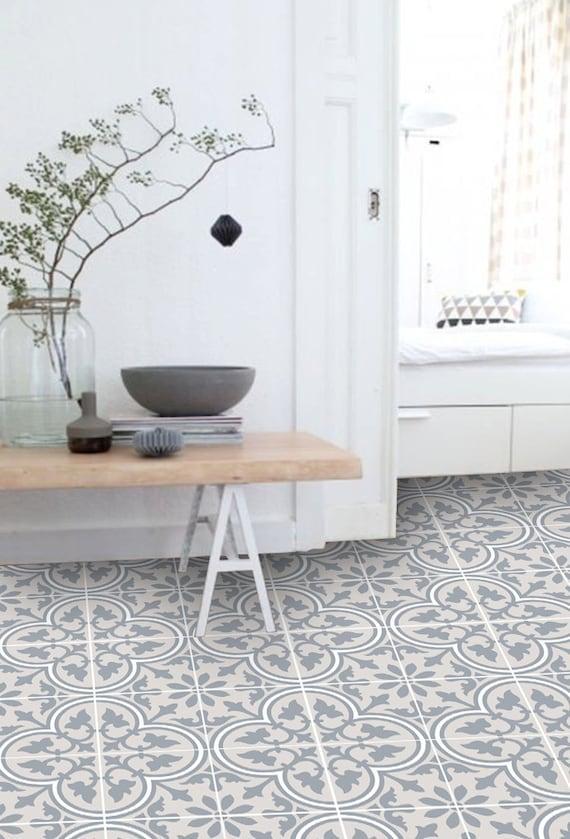 Vinyl Floor Tile Sticker Floor Decals Carreaux Ciment