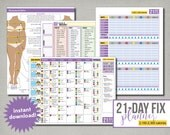 Beachbody 21-Day Fix Planner, 2100 to 2300 calories, Editable, Printable, Instant Digital Download