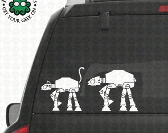AT-AT Family Pets Window Decals
