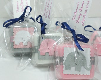 Baby shower elephant favors, elephant baby shower favors, baby shower favor girl, shower favors boy, choose your own color theme