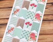 PATTERNED Big Flags - PLANNER Stickers - Mint Spring - perfect Inkwell Press, Happy Planner, Erin Condren & more! {#160361}