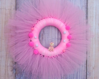 Baby Wreath. Nursery Wreath. Baby Shower Gift.