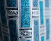 Midcentury turqoise, blue...