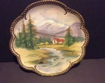 Vintage Ucagco Hand Painted Plate