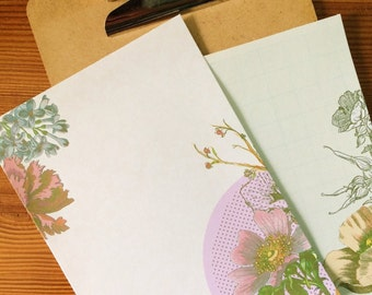 Vintage Botanical Collage Writing Paper-Stationery