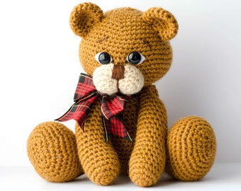 Crochet Amigurumi Teddy Bear Pattern PDF-Moxie Bear-Classical Teddy Bear-crochet PDF Tutorial-instant download