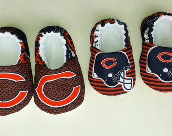 Chicago Bears baby shoes, baby slippers, crib shoes