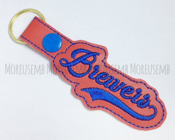 Brewers Key Fob Embroidery Design Machine Embroidery Designs