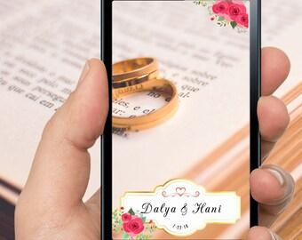 Elegant Rose & Gold Wedding Filter