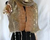 Ballerine Nuno Felted fleur foulard, 70 x 9