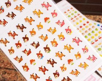 Cute Mini Deer Bambi, Popinjay Parrot,Duck,Dolphin,Hedgehog Planner Stickers