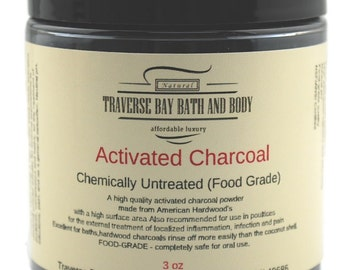 Activated charcoal powder 3 oz (Neutral pH)