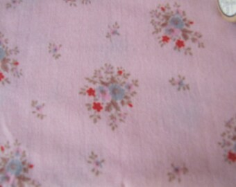 vintage pink floral ditsy fabric