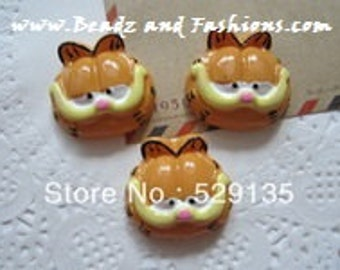 2pc Garfield the cat resin cabochon diy flatback
