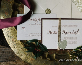 Urban Warmth Wedding Invitations - DEPOSIT