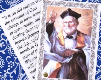 St PHILIP NERI founder of the ORATORY new laminated relic holy card five hundreth anniversary of his birth