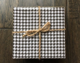 Houndstooth Coasters, Set of 4