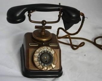 Danish Telephone KJOBENHAVNS TELEFON AKTIESELSKAB Rotary Ringer Desk Phone 1930