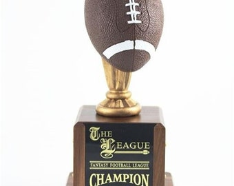 3-D Fantasy Football Trophy with Color
