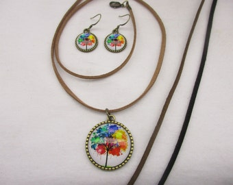 Tree of Life Pendant & Earring Set