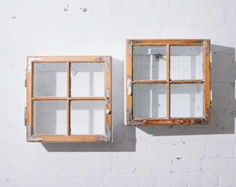 """Wall cupboard """"Berliner Fenster"""" - real window!"""