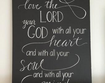 Scripture Chalk Art Etsy