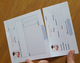 A5 order form + receipt section Pad