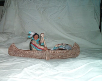 Indian in a Canoe