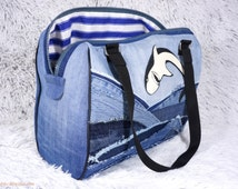 Recycled jeans handbag No 7