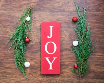 Country Christmas Decorations- Chistmas Joy Sign- Farmhouse Decor- Rustic Christmas Decor- Rustic Christmas- Holiday Decor- Primitive Decor