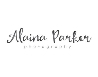 Calligraphy logo handwritting logo text only logo premade logo photography logo business logo