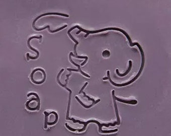 Elephant Soap Stamp Animal Soap Stamp Acrylic Soap Stamp
