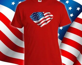 American Superhero - Fourth of july shirt women, men, fourth of july tshirt, july 4th shirts, america, christmas gift, birthday gift- CT-039
