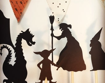 Birthday Gifts for kids- 10 Shadow Puppets - Kids Birthday Gift - Heroes and Villains- Imaginative Toys - Battery Free Toys- Toys
