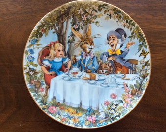 Collectible China Plate The Mad Hatter's Tea Party