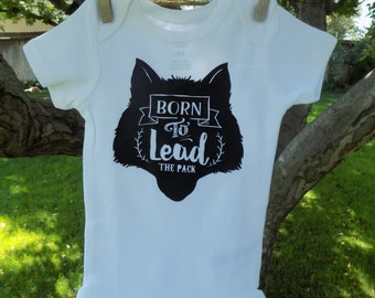 Born to Lead the Pack Wolf Onesie