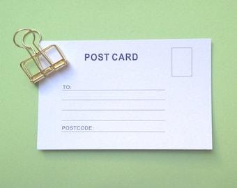 5 Letterpress Postcards - Stationery, Post Card, Paper, Travel Postcards
