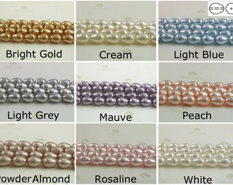 20 pieces Swarovski #5821 11x8mm Crystal Pearls Tear Drop Beads CHOOSE COLORS