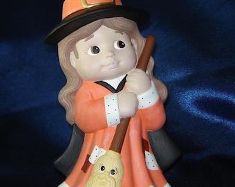 Halloween Ceramic Witch - Halloween Decoration - Fall Decorations - Ceramics for Fall - Halloween Ceramics