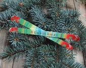 Mini Ski Christmas Ornament, Personalized just  for you