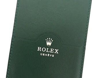 Genuine ROLEX 0101.40.05 Green Leather Card Holder Calendar Instruction Booklet