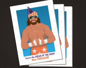 hulk hogan birthday card with envelope by fatdesigner on etsy, Birthday card