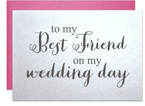 Wedding Gift Message For Best Friend : ... card Bff bachelorette card wedding day gift note for wedding gift