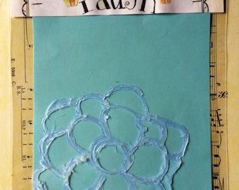 Hot gun stencil for mixed media and art journaling