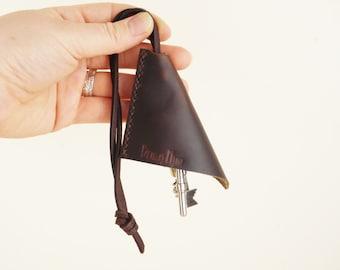 Leather Key Holder / Leather Key Case / Leather Key Pouch / Leather Keys Holder / Keys Silencer / Leather Keychain